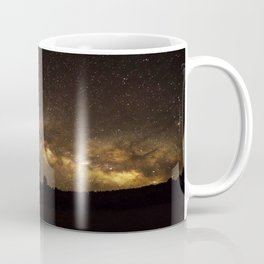 Above the Horizon - Milky Way Galaxy Above Treeline in Colorado Coffee Mug