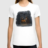 hallion T-shirts featuring The Witch in the Fireplace by Karen Hallion Illustrations