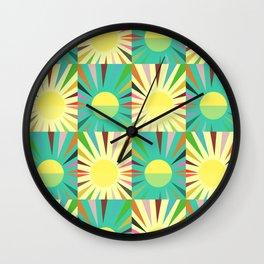 Sunshine pattern Wall Clock