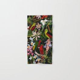 Vintage & Shabby Chic - Black Tropical Parrot Night Garden Hand & Bath Towel