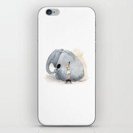 Brushing Elephant iPhone Skin
