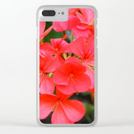 Blossom pattern Clear iPhone Case