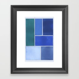 Blue & Gutters Framed Art Print