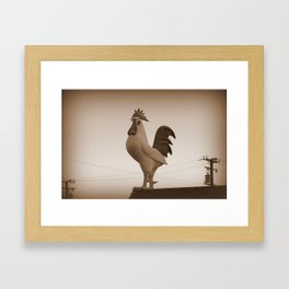 Giant Rooster Framed Art Print