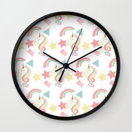 Unicorn Magic Wall Clock