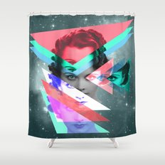 galactic implosion Shower Curtain