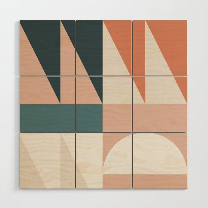Cirque 05 Abstract Geometric Wood Wall Art By Theoldartstudio