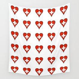 flag Switzerland 3-,Swiss,Schweizer, Suisse,Helvetic,zurich,geneva,bern,godard,heidi Wall Tapestry