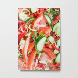 Vegetable salad Metal Print