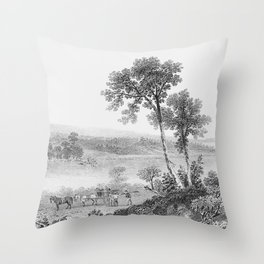 Lake Champlain 1850 Throw Pillow