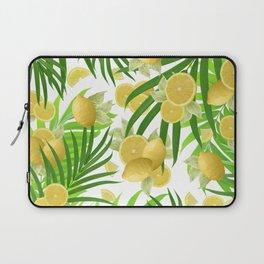 Summer Lemon Twist Jungle #2 #tropical #decor #art #society6 Laptop Sleeve