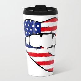 American lips Travel Mug
