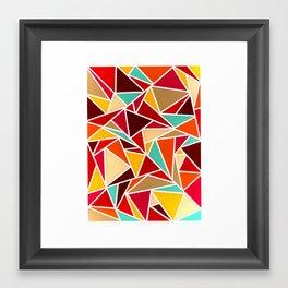 Autumn Triangles Framed Art Print
