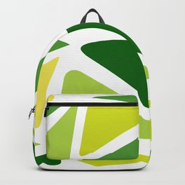 Green and yellow shapes Backpack