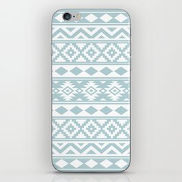 Aztec Essence Ptn IIIb Duck Egg Blue & White iPhone Skin