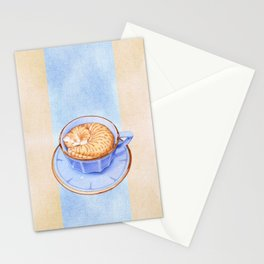 Cat in Coffee Stationery Cards