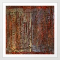 Textured abstract paint  Art Print