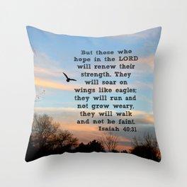 Isaiah 40:31  Throw Pillow