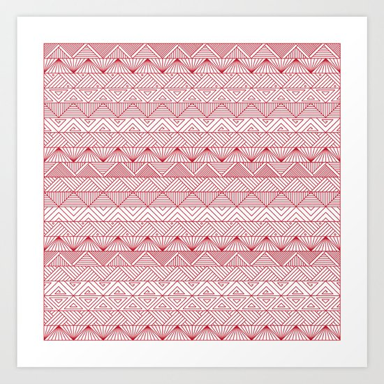 Triangle Trip Art Print