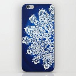 White snowflake in Petrykivka style iPhone Skin