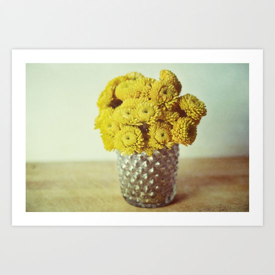 yellow makes me happy Art Print