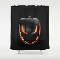 pumpkin Shower Curtains featuring pumpkin by Duitk