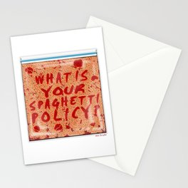 What is your spaghetti policy? -Always Sunny- Fan art Stationery Cards