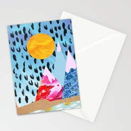 Abstract mountain collage Stationery Cards