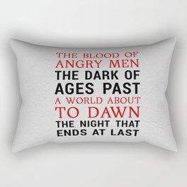 Red and Black Rectangular Pillow