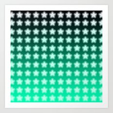 You're a Star! Green and Black! Art Print