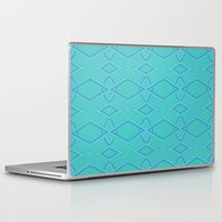 coasters Laptop & iPad Skins featuring Abstract Teal Pattern  by Lena Photo Art