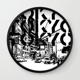 Tokyo Japan Black White Wall Clock