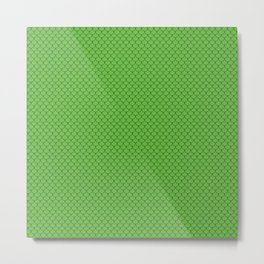 Green Scales Pattern Metal Print