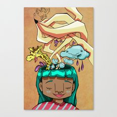 Overflowing thoughts  Canvas Print