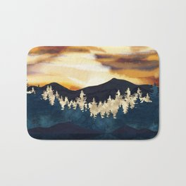 Fall Sunset Bath Mat