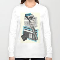 radio Long Sleeve T-shirts featuring Radio by collageriittard