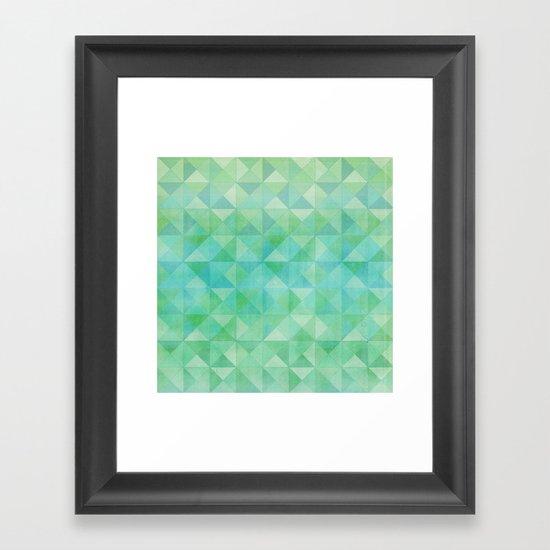 Green/Blue : Pattern Framed Art Print