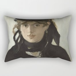 Edouard Manet - Young woman in a black hat Rectangular Pillow