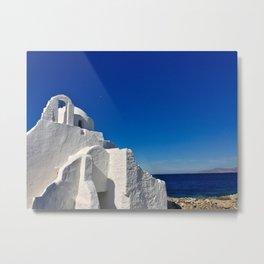 Panagia Paraportiani - Mykonos, Greece Metal Print