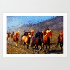 Wild Horses II Art Print