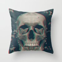 sleeping beauty Throw Pillows featuring Sleeping Beauty by Galvanise The Dog