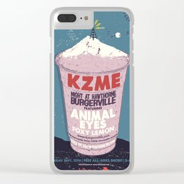 "KZME ""Night at Hawthorne Burgerville"" - Portland, Oregon Clear iPhone Case"