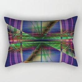 Plaid Movement 001 - Geometric - Unique Plaid - Colorful Plaid Rectangular Pillow