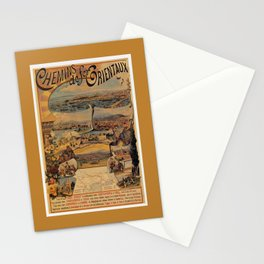 Oriental railways to Constantinople Stationery Cards