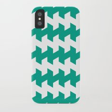 jaggered and staggered in emerald Slim Case iPhone X