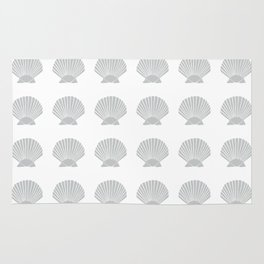 Light Grey Seashell Rug