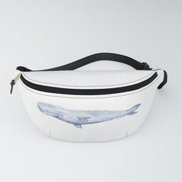Sperm Whale Watercolor Fanny Pack