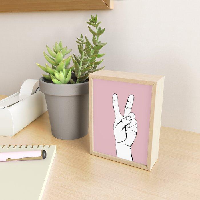Peace III Framed Mini Art Print