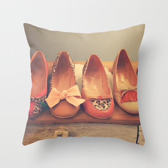 Vintage Shoes and Heels  Throw Pillow