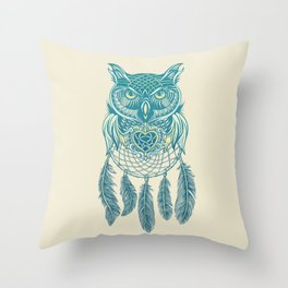 Midnight Dream Catcher Throw Pillow